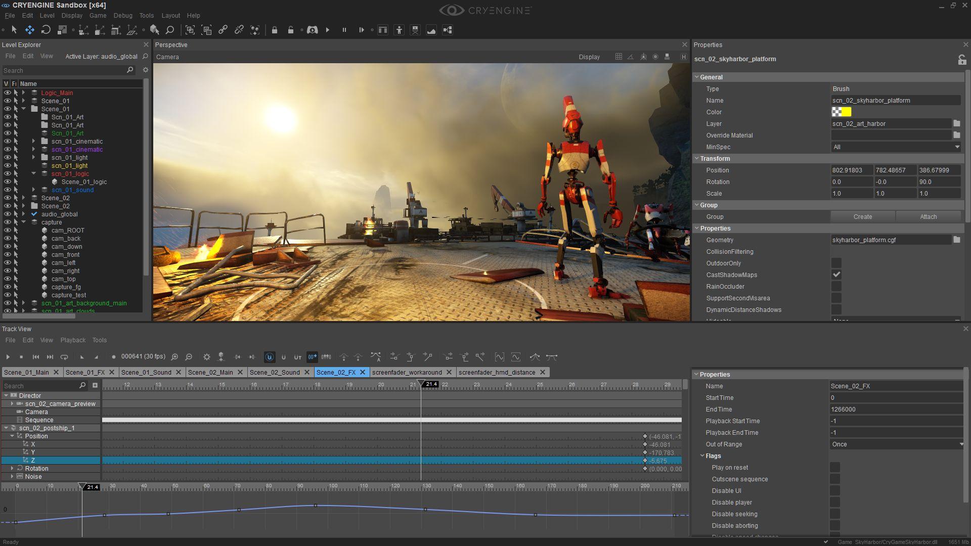 Cryengine 5 Sandbox Editor