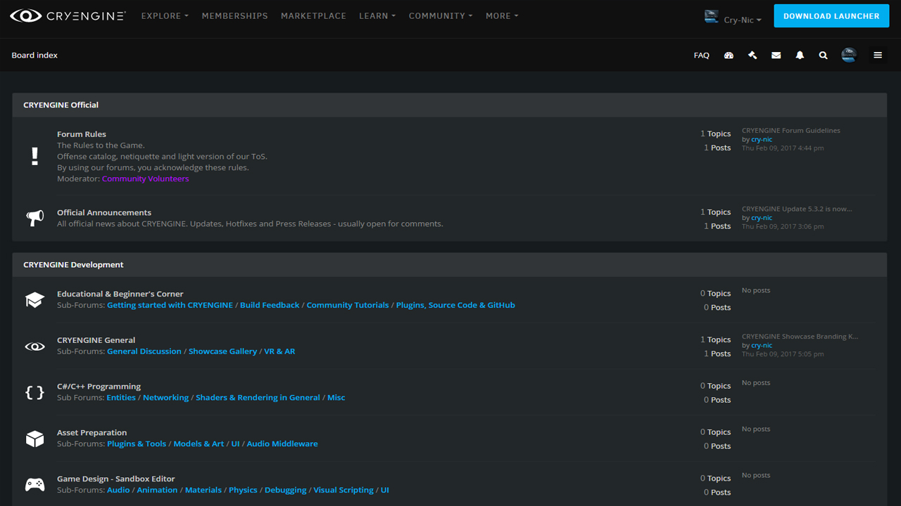 New CRYENGINE forum is go!