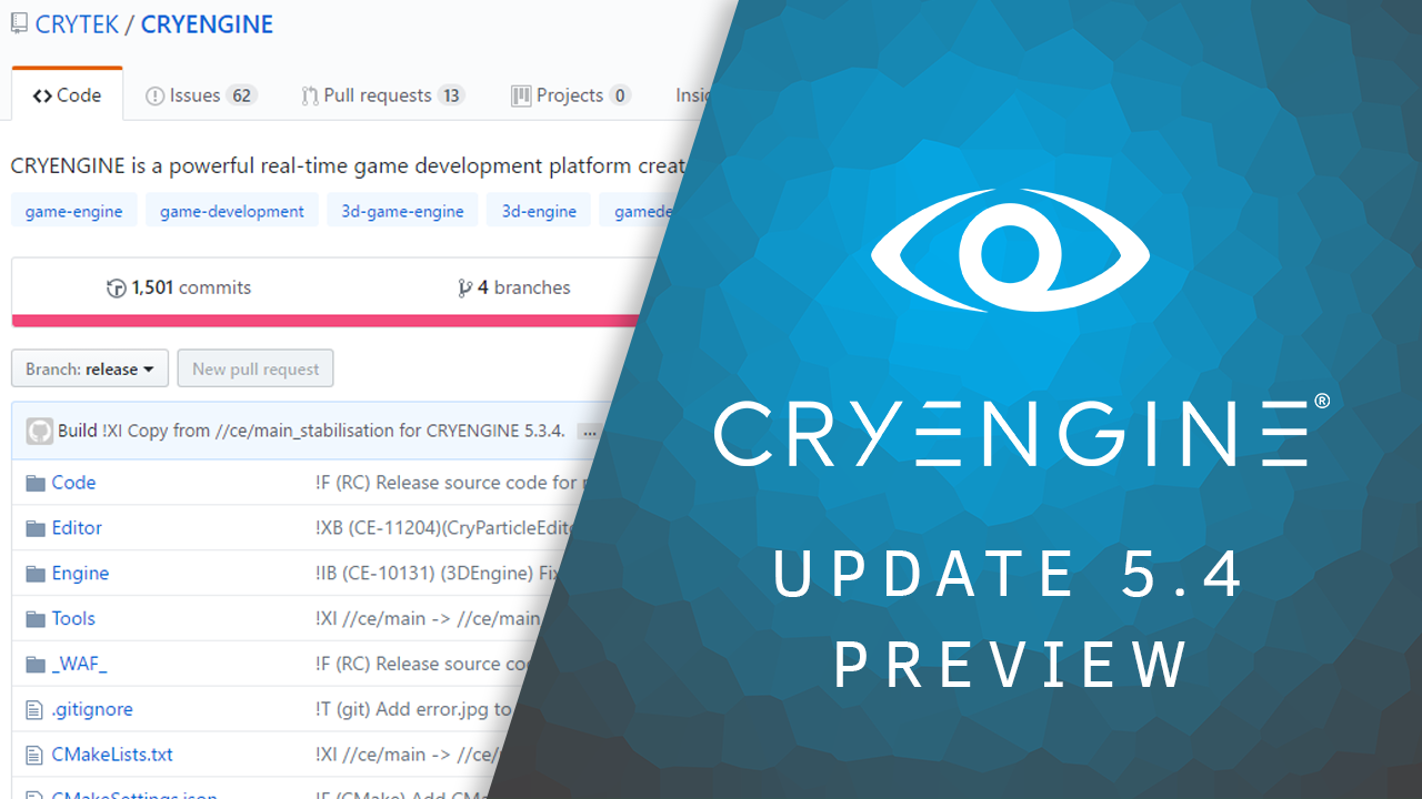 CRYENGINE 5.4 Preview released today, including over 620 improvements