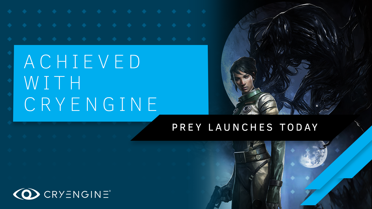 Achieved with CRYENGINE, Prey launches today