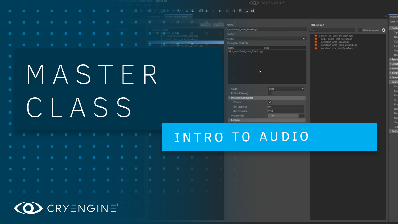 CRYENGINE Master Class – Introduction to Audio in CRYENGINE V